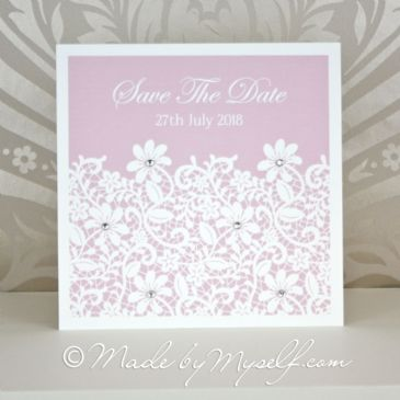Daisy Lace Save The Date